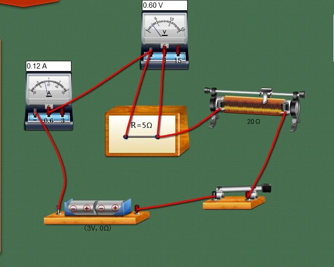 实验步骤:   1,按照电路图连接实物
